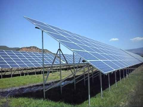 Solar panels at Colorado Rocky Mountain School - 10/04/2010