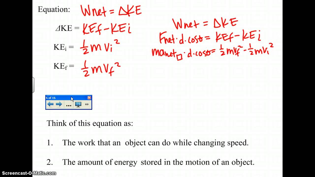 work energy theorem