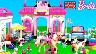 Mega Bloks Barbie Horse Stable with Barbie Dolls Barbie Lego Brick Toys | TheChildhoodlife