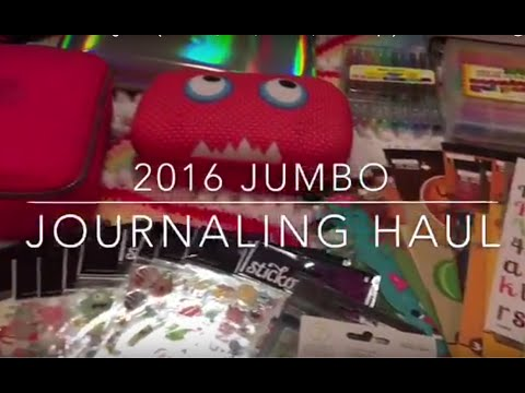 2016 Jumbo Journaling Haul (Journals, Pens, Stickers, Washi Tape)