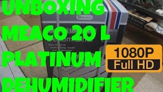 Unboxing Meaco 20L Platinum Dehumidifier [GoPro3]