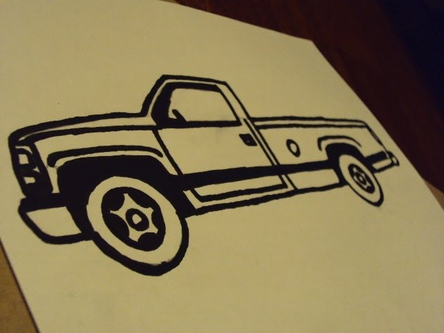How to draw a drag truck
