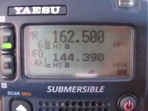 Yaesu VX8 NOAA Weather Channel reception