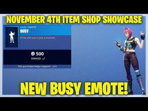 Fortnite Item Shop NEW BUSY EMOTE! [November 4th, 2018] (Fortnite Battle Royale)