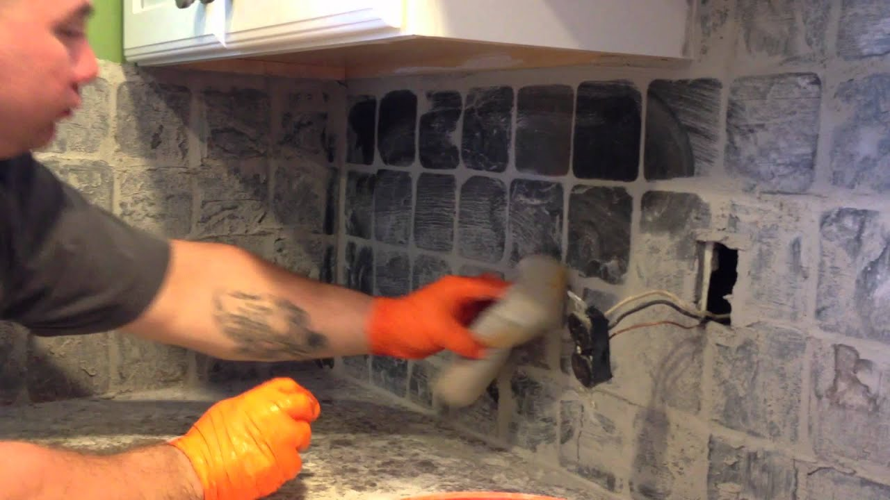 Grouting Tile Backsplash Youtube