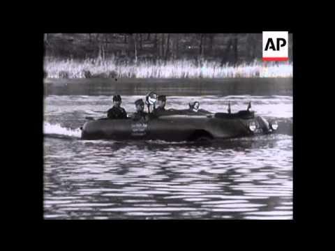 Amphibian Car Plays Ducks And Drakes