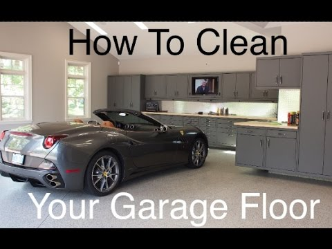 How to clean your garage floor youtube for How to clean garage floor