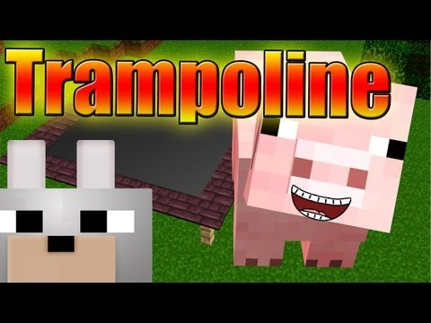 Minecraft Mods - Trampoline 1.3.2 Review ( Jump In The Air! )