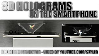 3D Holograms with any Smartphone (Amazing Optical Illusion)
