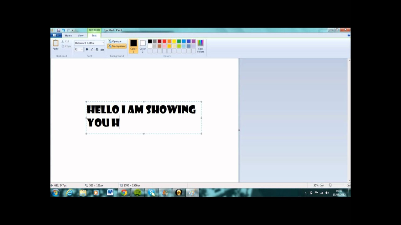 how to rotate text on paint 2013  easy