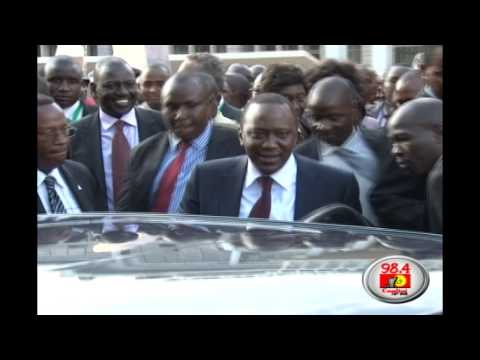 Uhuru's security detail and motorcade
