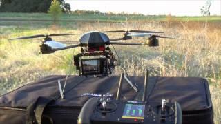 Draganflyer X4 UAV R/C Helicopter withonic FX-580 12.1 mega pixel digital camera