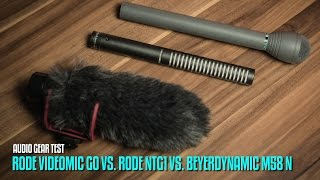 RODE VideoMic Go vs. RODE NTG1 vs. Beyerdynamic M58