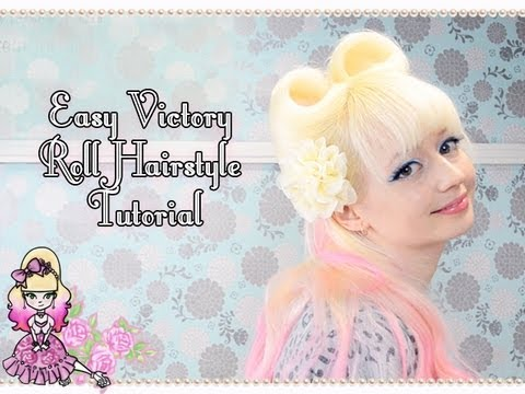 How To Do Easy Victory Rolls - Hairstyle Tutorial- Violet LeBeaux
