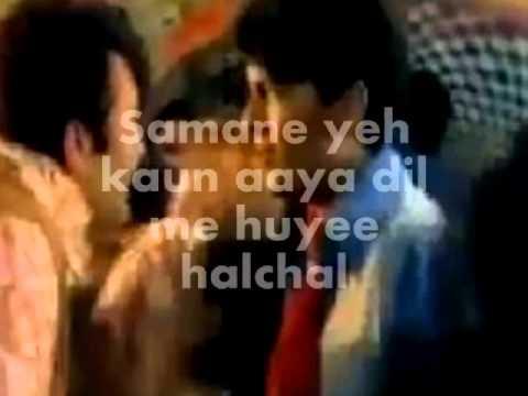 Samne Yeh Kaun Aaya-Karaoake & Lyrics-Jawani Diwani