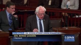 Sen. Sanders on Sen. Warren not being able to read Coretta Scott King letter (C-SPAN)