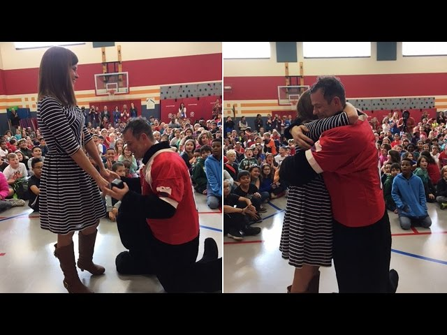 Principal Gets Engaged In Front Of Students: 'The Best Moment Of My Life'