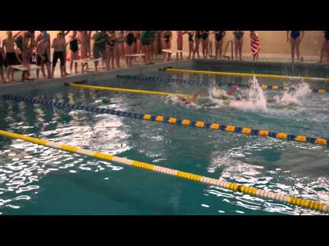 Derrick Swimming 100 Yard Freestyle Relay. video