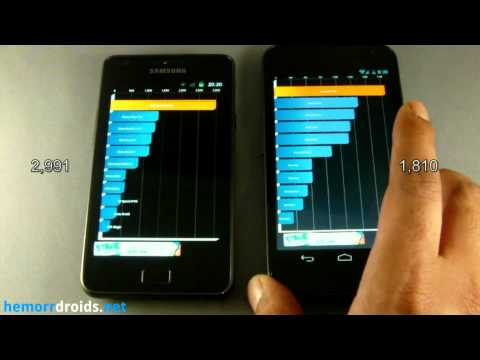 Samsung Galaxy SII (S2) vs Samsung Galaxy Nexus Benchmark