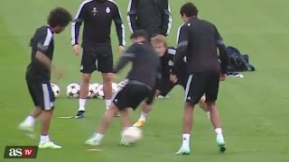 Cristiano Ronaldo and Marcelo Humiliates James Rodriguez - Real Madrid Training | 04/11/2014