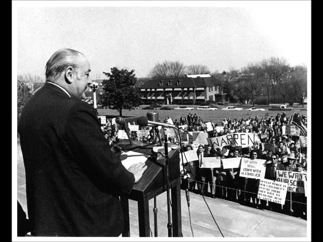 Winthrop Rockefeller Campaigning in Warren, Arkansas, in 1966