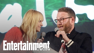 Seth Rogen's Marijuana Knowledge Tested By Anna Faris | PopFest | Entertainment Weekly