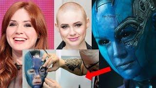 Karen Gillan Transformation to Nebula - Guardians of the Galaxy Vol.2 Behind the Scenes - 2017