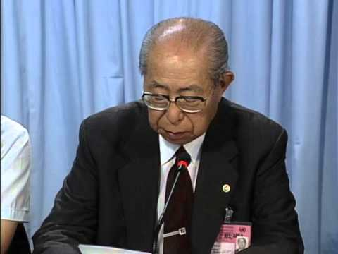 Press briefing by Mr. Okita, former Minister for Foreign Affairs on energy and environment (1992)