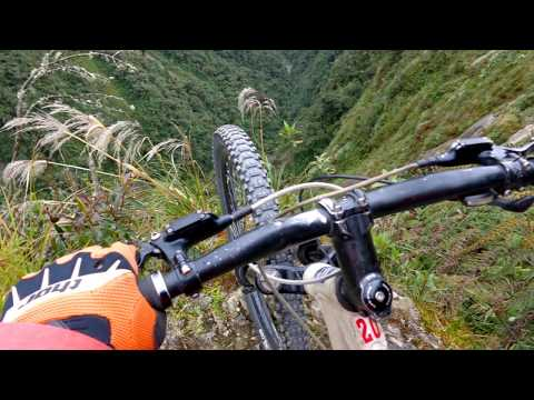DEATH ROAD Bolivia bicycle ride 2014, by funny golf ball BoB