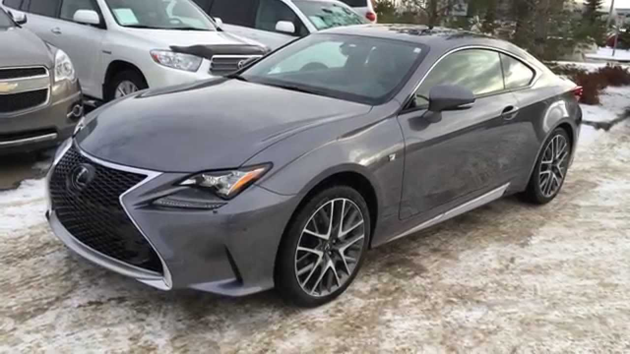 New Grey on Red 2015 Lexus RC 350 2dr Cpe AWD Review Canada - YouTube