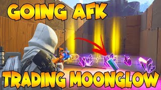 Going AFK while Trading My Moon Glow! | *NEW* Experiment | Fortnite Save The World