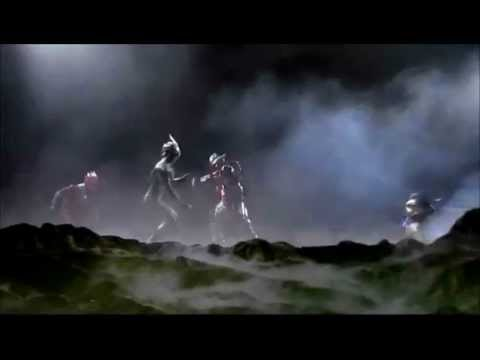 Ultraman Zero, Glen Fire And Mirror Knight Vs Jean Killer video