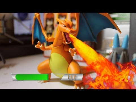 Pokémon Stop-Motion Battle: Charizard Vs Lucario