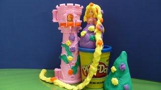 Búp Bê Công Chúa Disney Rapunzel -Lâu Đài Đất Sét - Play Doh Rapunzel Garden Tower New