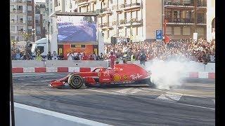 F1 Milan Festival 2018 - F1 burnout + F1 safety car burnout + Ferrari FXX k.....