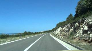 Driving thru Krk and Cres, Croatia