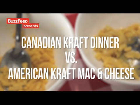 American Mac 'N' Cheese Vs. Canadian Kraft Dinner - BUZZFEED RESPONSE