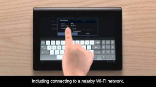 NEW Sony Tablet S First Time Initial Setup MUST SEE!!