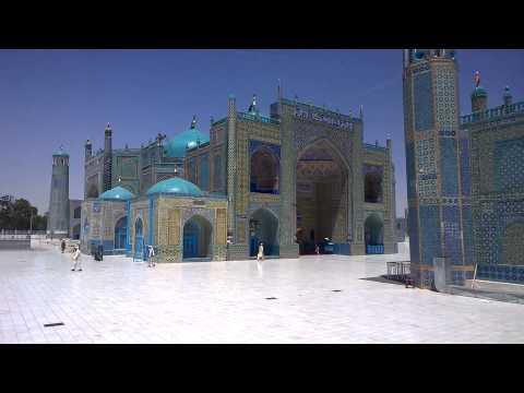 The Shrine of Hazrat Ali (Blue Mosque) in Mazar-e Sharif