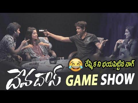 Devadas Movie Team Funny Game Show | Akkineni Nagarjuna | Nani | Rashmika | Akanksha Singh