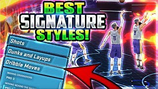 NBA 2K18 BEST SIGNATURE STYLES! (ALL THE BEST DRIBBLE MOVES, JUMP SHOTS, & DUNKS!)