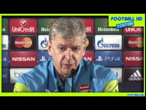 Arsene Wenger pre-match press conference / Monaco vs. Arsenal  / 2015