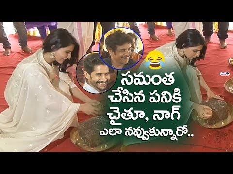 Funny Moment at Samantha and Naga Chaitanya New Movie Launch | Nagarjuna Lough | Shiva Nirvana