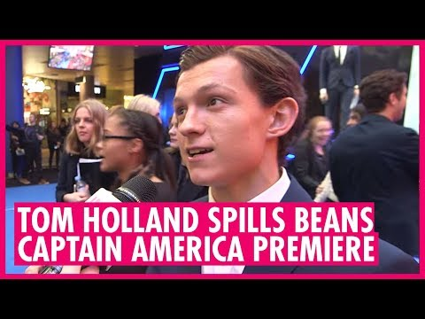 Tom Holland spills beans about Spiderman at Captain America: Civil War premiere