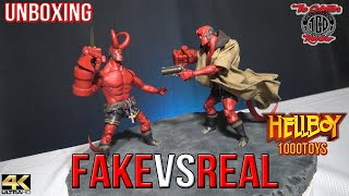 Fake Vs Real HellBoy 1000Toys Review Legit versus The Knockoff