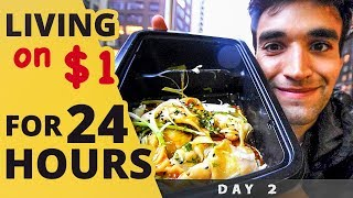 LIVING on $1 for 24 HOURS in NYC! (Day #2)