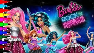 BARBIE Coloring Book Pages Barbie Rock N