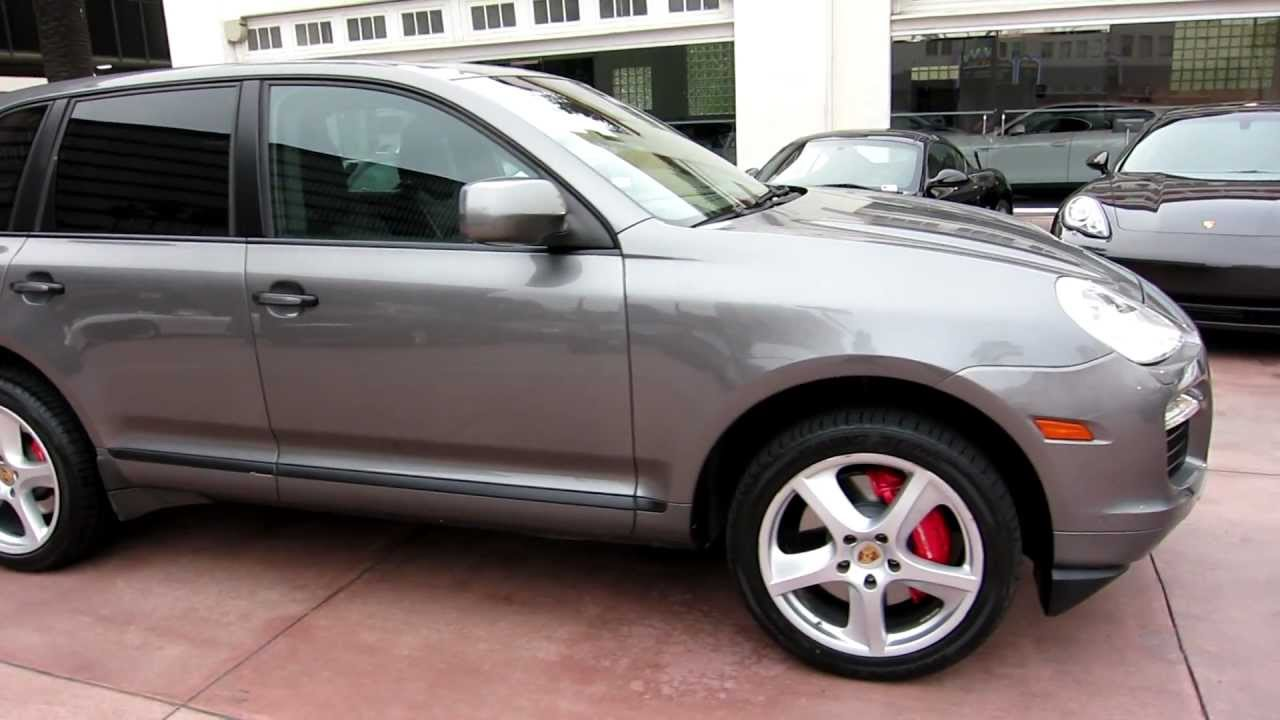 2008 Porsche Cayenne Turbo Meteor Grey Black Full Leather