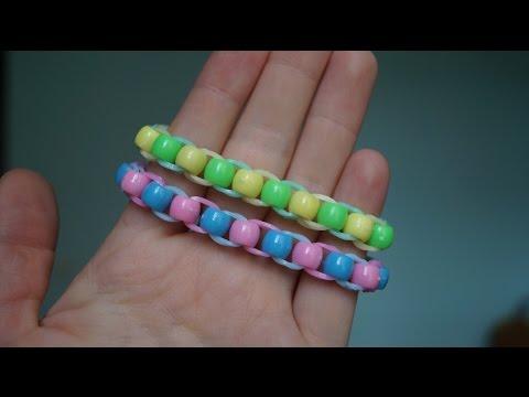 Плетение браслетов из бусин и резинок