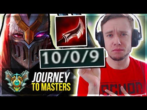 NEW DUSKBLADE ZED IS FREELO!! Too Easy.. Journey To Masters | League of Legends